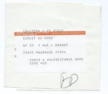 2009 - Bande De Journal 1989 Pour Maubeuge Journal Officiel FD Fausse Direction - Poststempel (Briefe)