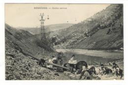 GARD  /  BESSÈGES  /  CABLE  AERIEN  ( Mines , Lavandières Et Laveuses De Minerai ) - Bessèges
