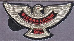SIERRA  LEONE  C 70    **   EMBOSSED  EAGLE FOIL   WITH  ADS ON BACK - Sierra Leone (1961-...)