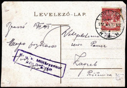 "Romania 1917, Censured Card Brasso To Zagreb W./special Postmark ""Brasso"", Ref.bbzg - Cartas De La Primera Guerra Mundial"