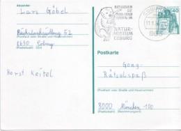 Deutschland Germany Ganzsache 1979 Zusatzstempel Natur-Museum Coburg Koala - Oblitérés