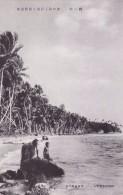 Palau - Woman And Boy At Coast, Japan's Vintage Postcard - Palau