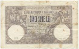 KINGDOM ROMANIA 500 LEI MARCH 1918 -B45 - Romania