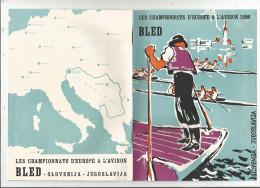 G-I-E, Publicité , Sport, Championnat D'europe à L'aviron , 1956 , Bled , Slovenija , Jugoslavija, Frais Fr : 1.95€ - Publicités
