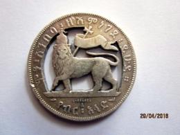 1/2 Birr Menelik With Lion De Judah (Ethiopia) Detached Argent / Silver - Bijoux & Horlogerie