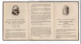 Souvenir Mortuaire  - Mme Eugénie Carl Née Galler Et Mr Joseph Carl,Décédés En 1935 à Cousances Aux Forges  55 - Avvisi Di Necrologio