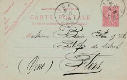 Cad Type A4 - IGE  (61) - Sur Entier Postal