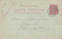 Cad Type 84 - SABRES (40) - Sur Entier Postal