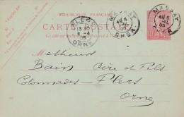 Cad Type 84 -MASSAY (18) - Sur Entier Postal
