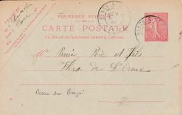 Cad Type 84 -BESSE Sur BRAYE (72) - Sur Entier Postal
