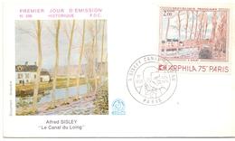 FRANCE FDC ALFRED SISLEYLE CANAL DULOING    (MG160118) - Vetri & Vetrate