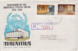 Postal History Cover: Mauritius UPU Set On Cover - U.P.U.
