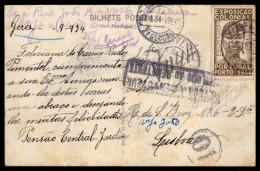 "GEREZ (Geres) FRONTEIRA ESPANHOLA. Postal Circulado 1934 ""Devolvido Ao Remetente"". Old Postcard BRAGA / PORTUGAL - Braga"