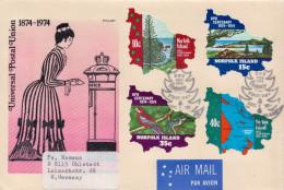 Postal History Cover: Norfolk UPU Set And SS On 2 Covers - U.P.U.