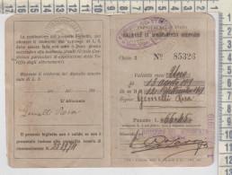 BIGLIETTO ABBONAMENTO ORDINARIO FERROVIE DELLO STATO PERCORRENZA MESSINA - ALI' MARINA 1919 - Documenti Storici