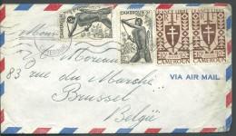 ! - Cameroun - Lettre Avec 4 Timbres - Envoi Par Avion Vers Brussel Belgique - Cameroun (1960-...)