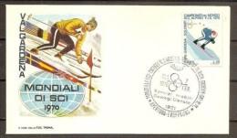 1970 Italia Italy Repubblica MONDIALI DI SCI  SKI Serie Su FDC 7/2/70 Ortisei - Sci