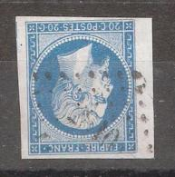 Empire N° 14 BORD DE FEUILLE Obl Pc 2810 De SARREBOURG , Meurthe Et Moselle, TTB - 1853-1860 Napoléon III