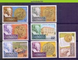 Nco042 NOBELPRIJS MEDAILLES ALFRED NOBEL PRIZE MEDALS PHYSICS CHEMISTRY PEACE LITERATURE GRENADA GRENADINES 1978 PF/MNH# - Nobelprijs