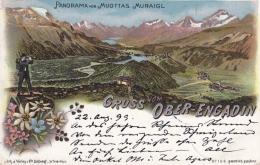 Ober-Engadin - Farbige Litho - Panoram Vom Muottas Muraigl - GR Grisons