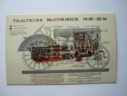 """""""  MC CORMICK """",SUPERBE CPA TRACTEURS 10/20=22/36 , 1931  ,MATERIEL AGRICOLE,TRACTEUR,LIEUSE,PAYSANNERIE - Tractors"""