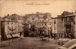 07 / Ardèche - LOT 3 Cpa ANNONAY - Place De La Liberté / Place Des Cordeliers / Vue Pont Valgelas Et Pont-Neuf - Annonay
