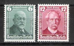 Reich N° 562 Et 563 Neufs * - Allemagne