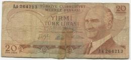 TURQUIE,TURKEI TURKEY  20 LIRA SEVEN DIGITAL NUMBER RARE - Turquie