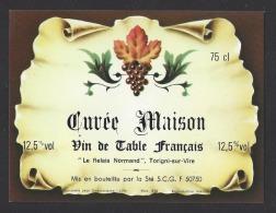 Etiquette De Vin De Table -   Relais Normand  à Torigni Sur Vire (50)  -  Ets SCG à 50750 - Etiquettes