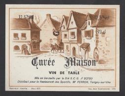 Etiquette De Vin De Table  -   Restaurant Des Sportifs Mr Perron à Torigni Sur Vire (50)  -  Ets SCG à  Quibou (50) - Etiquettes