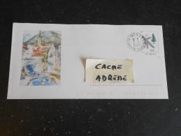 MEGEVE - HAUTE SAVOIE - CACHET ROND MANUEL SUR PAP 2387-E1 - EPICEA ARBRE - Entiers Postaux