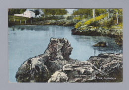AK Bermuda 1932-06-? St Georges Lion Rock Foto Yankee Store &  Phoenix Drug Co #23 - Bermudes