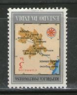 Portuguese India 1957 Rs.3 Map Sc 552  MNH # 1535 - Portuguese India