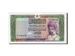 Oman, 1/2 Rial, 1987/AH1408, Non Daté, KM:25, NEUF - Oman