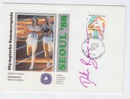 Korea SEOUL OLYMPIC GAMES DIETER BAUMANN SINGED COVER 1988 - Summer 1988: Seoul