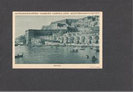"320) 1932 - AK Malta - Telegrammkarte - HAPAG - Dampfer ""Oceana"" - Malta"