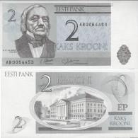Estonia 1992 - 2 Krooni - Pick 70 UNC - Estonia
