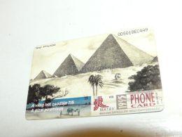 Pyramid Of Giza Gizeh Egypt 1995 Phonecard Hungary - Cultural