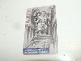 Olympia Zeus Sculpture Greece Greek 1995 Phonecard Hungary - Cultural