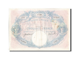 France, 50 Francs, 50 F 1889-1927 ''Bleu Et Rose'', 1914, 1914-07-04, KM:64e,... - 1871-1952 Anciens Francs Circulés Au XXème