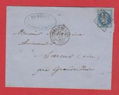 Lettre / De Saint Germain En Laye  / Pour Granvilliers  / 18 Novembre 1868 - Marcophilie (Lettres)