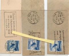 SUIISSE 3 FLAMMES 1938 1948 1938 - Suisse