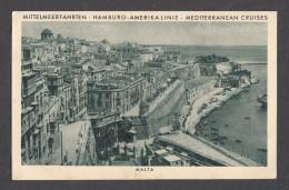 "321) 1931 - AK Malta - Telegrammkarte - HAPAG - Dampfer ""Milwaukee"" - Malte"