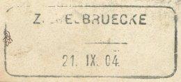 1509 - ZIEGELBRUECKE 21.IX.04 - Aushilfstempel Auf Ansichtskarte - Poststempel