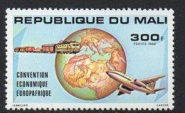 1980 Mali  Economic Development Trains Plane   Complete Set Of 1 MNH - Mali (1959-...)