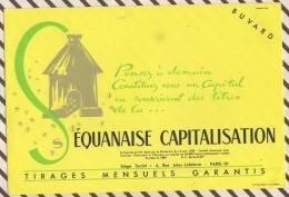 191 BUVARD ASSURANCES Lot De 2 Pieces SEQUANAISE CAPITALISATION VIE     21  X 14 CM - Banque & Assurance