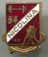 BOXING BOX RING - NICOLINA IASI, Romania, Sport Boxing Wrestling Weightlifting, Enamel, Vintage Pin, Badge - Boxing