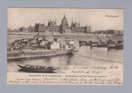 AK Ungarn Budapest 1902-06-20 Valz Donapartie Mit Dem Neuen Parlamente - Hongrie