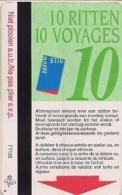 STIB - MIVB - BRUXELLES Et ENVIRONS - CARTE DE 10 VOYAGES (340 Francs Belges) - Métro Et Bus (106615972) - Métro