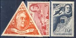 Monaco Posta Aerea 1946 Serie N. 19-21 Omaggio A Roosevelt MNH Catalogo € 3,15 - Posta Aerea